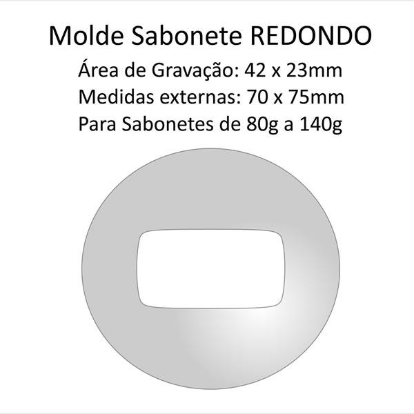 A01 Molde Sabonete Redondo