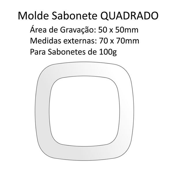 A03 Molde Sabonete Quadrado